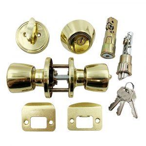 #013-234 - Interior Combo Lock Set, Polished Brass