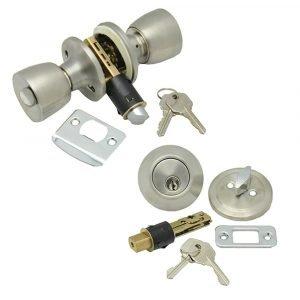 #013-234-SS - Interior Combo Lock Set, Stainless Steel