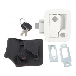 #013-534 - Bauer Key'd-A-Like Towable Lock w/keys, White