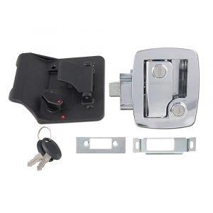 #013-535 - Bauer Key'd-A-Like Towable Lock w/keys, Chrome