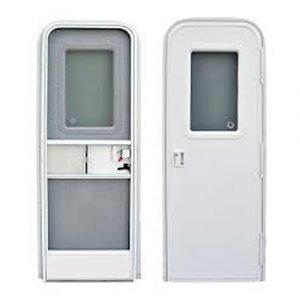 """#015-205998 - Radius Entrance Door RH, 30"""" X 72"""", white"""