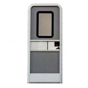 """#015-217708 - Radius Entrance Door RH, 24"""" x 68"""", white"""