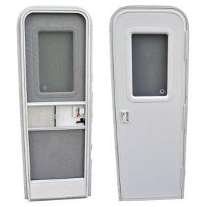 """#015-217710 - Radius Entrance Door RH, 28"""" x 72"""", White"""