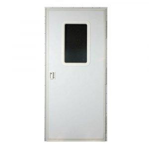 "#015-217714 - Square Entrance Door RH, 24"" x 76, White"
