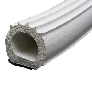 "#018-1097 - Ribbed Foam D Seal, 1"" x 1"" x 50'"
