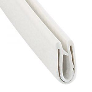 "#018-667 - Clip On Trim, 9/16"" x 1/4"" x 50', White"