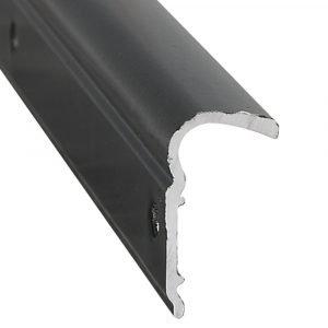 "#021-51102-12 - Roof Edge Non-Insert, 1-1/8"" x 1/2"" x 12', Black"