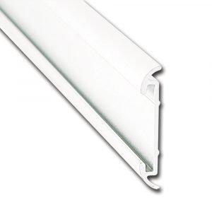"#021-54601-8 -1 Flat Trim Insert, 1-1/4"" X 1/5"" X 8', Polar White"