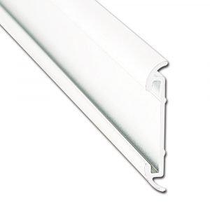 """#021-54603-16 - Flat Trim Insert, 1-1/4"""" x 1/5"""" x 16', Mill, White"""