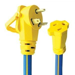 "#16-00503 - 3 Prong 30-15 AMP 12"" Adapter w/EZEEGRIP Handle"