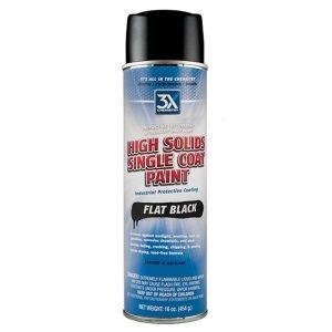 #350 - High Solids Flat Black Spray Paint