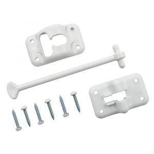 "#013-085W - Plastic Door Holdback, 6"", 1 Set, White"
