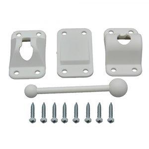 "#013-237 - Plastic Door Holdback, 4"", White"