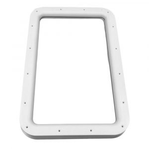 #015-2014742 - Inner & Outer Window Frame, w/Seal, White