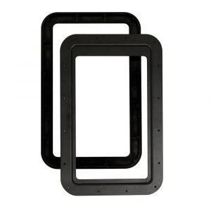 #015-2014782 - Inner & Outer Window Frame for Thin Shade, w/Seal, Black