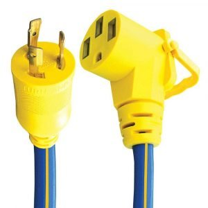 "#16-00519 - 3 Prong 30-50 AMP 18"" Ext. Cord & Adapter w/EZEEGRIP Handle"