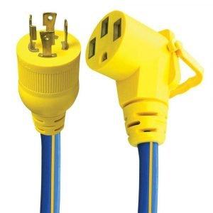 "#16-00520 - 4 Prong 30-50 AMP 18"" Ext. Cord & Adapter w/EZEEGRIP Handle"