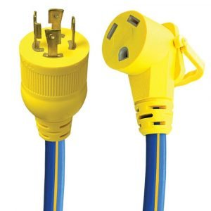 "#16-00526 - 4 Prong 30 AMP 18"" Generator Adapter w/EZEEGRIP Handle"