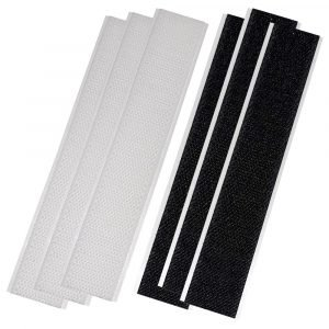 """#006-204 - Hook & Loop, 6"""" Strips, 3 White, 3 Black"""