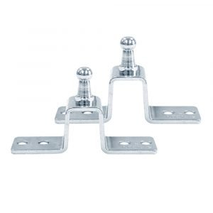 #010-187-2 - Hat Shaped Slotted Gas Prop Bracket, 2 Pack