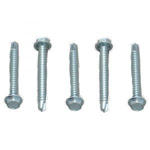 #012-DP100 - 8 x 1/2 DP Hex Washer Head, Zinc, 100 Pack