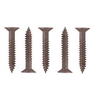 #012-FSQ100 - 8 x 1-1/2 Flat Head Square Recess Raw, 100 Pack