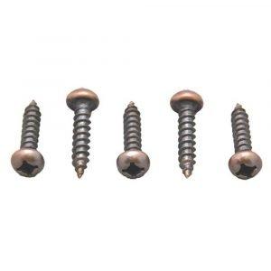 #012-PSQ500BZ - 8 x 1-1/2 Pan Head Square Recess Screw, Bronze, 500 Pack