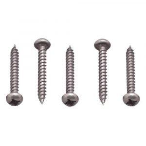 #012-PSQ500BZ - 8 x 1-1/4 Pan Head Square Recess Screw, Bronze, 500 Pack