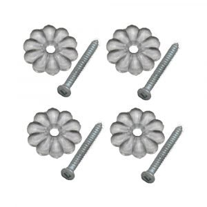 #012-RTCR100 - Rosettes & Screws, Clear, 100 Pack