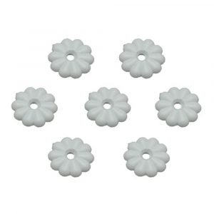 #012-RW100 - Rosettes, White, 100 Pack