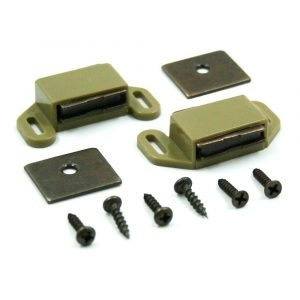 #013-012 - Concealed Magnetic Catch Side Mount w/Strike, 2 Sets