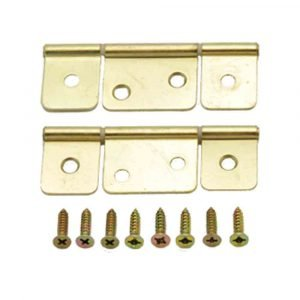 #013-046 - Non-Mortise Hinge Brass, 2 Pack