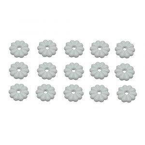 #013-134 - White Rosettes & Screws, 15 Pack