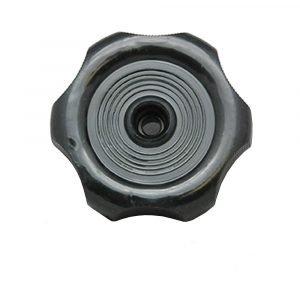 "#013-186 - Round Window Crank Handle w/Screws, Black, 7/8"" Shaft, Single"