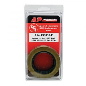 #014-130035-P - Double Lip Grease Seal 2.125 Shaft, 3.376 OD 5.2-7K